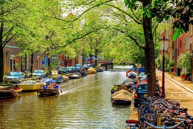 Canal, Water, River, Motor Boat, Tourism, Family
