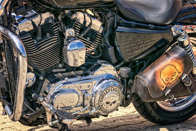 Motor, Harley Davidson, Motorcycle, Chopper, Chrome