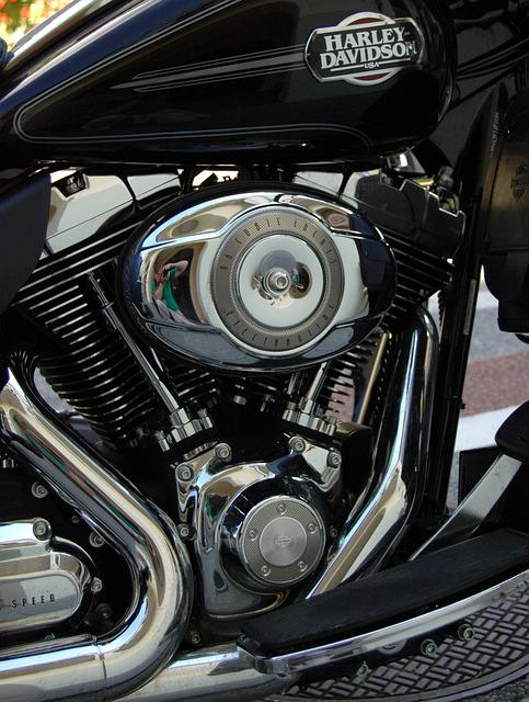 Motorcycle, Motor, Chrome, Vehicle, Harley Davidson