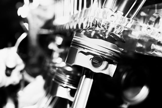 Motor, Piston, Machine, Close Up, Metal, Drive