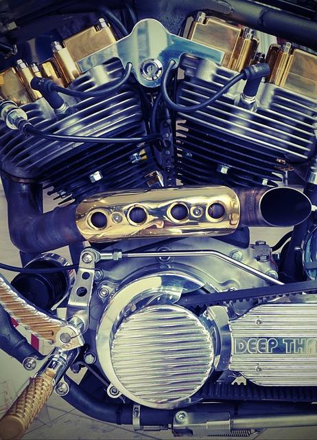 Motor, Chrome, Harley Davidson, Motorcycle, Noble