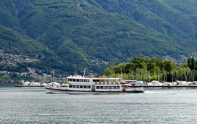Shipping, Motor Ship Milano, Excursion Ship, Exit