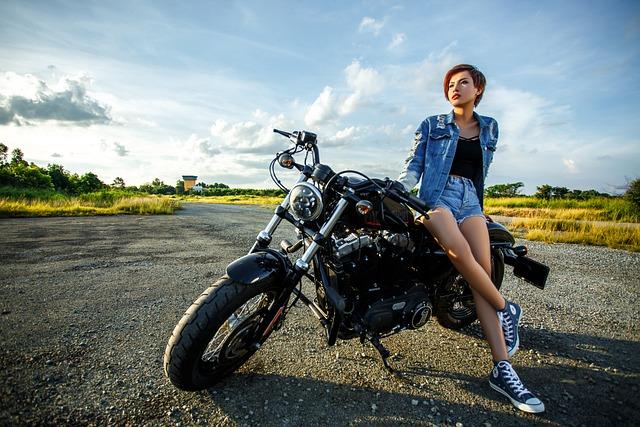 Girl, Motorbike, Fashion, Motorcycle, Model, Woman