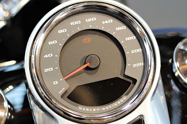 Motorbike Harley Davidson, Speedmeter
