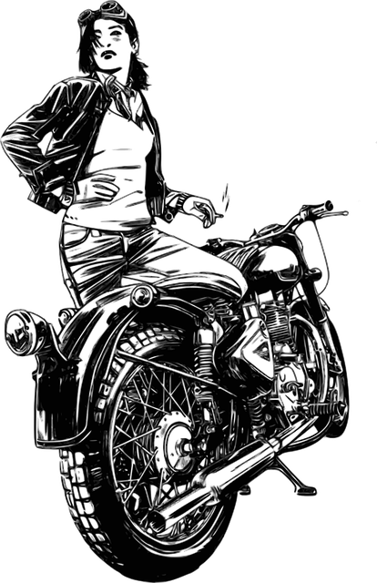Motorbike, Motorcycle, Woman