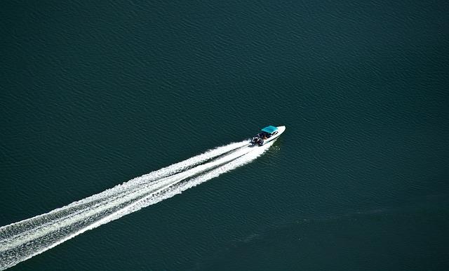 Motorboat, Boat, Speed, Power, Water, Sea, Wake, White