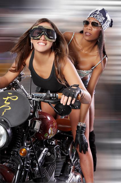 Girl, Woman, Emotion, Charm, Ancient, Moto, Motorcycle