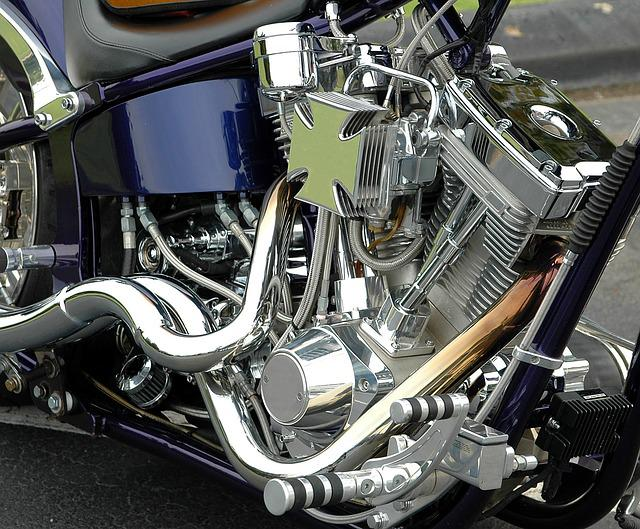 Motorcycle, Engine, Chrome, Shiny, Chopper