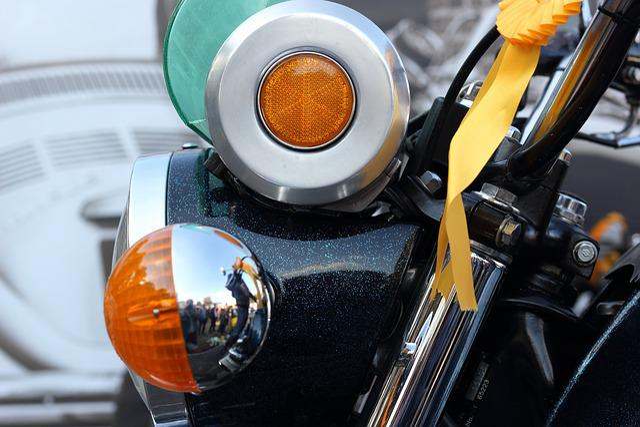 Motorcycle, Headlight, Reflector, Indicator, Light
