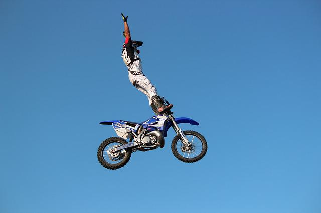 Motorcycle, Wheel, Motocross, Jump, Risk, Adrenaline