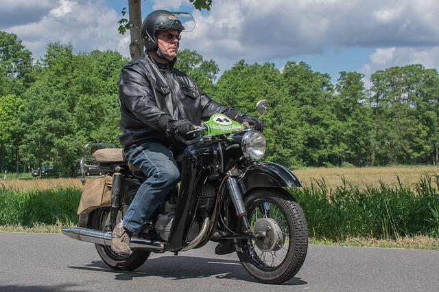 Motorcycle, Jawa, Oldtimer, Road, Motorcyclist