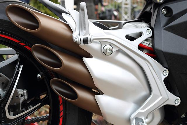 Motorcycle, Motor, Exhaust, Muffler, Wheel, Aluminium
