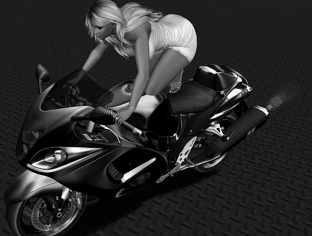 Avatar, Motorcycle, Woman