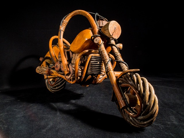 Wooden Motorcycle, Motorcycle, Wood, Model, Art