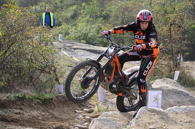 Trial, Motorcycle, Bike, Motorsport, Jump, Competition