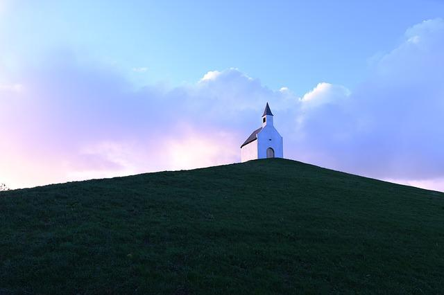 Sunrise, Little Church, Small Chapel, Hill, Mound