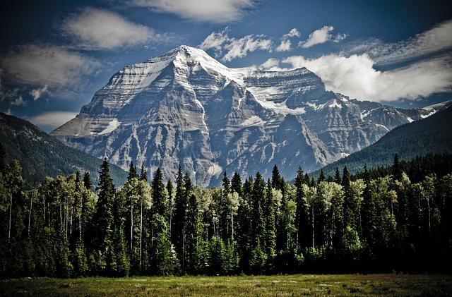 Mountain, Mount Robson, Peaks, Mountain Range