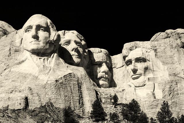 Mount Rushmore, Mountain, Rock, Sculpture, Landmark