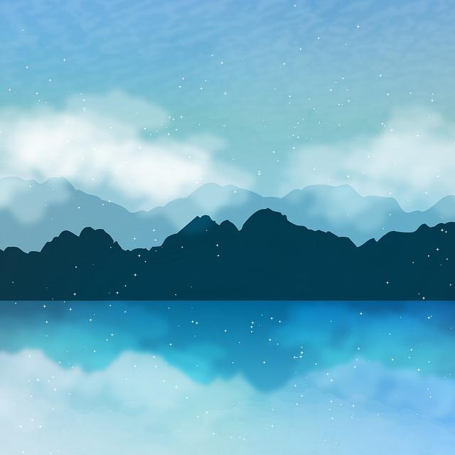 Mountain And Sea, Background, Lake, Sky, Sea, Landscape
