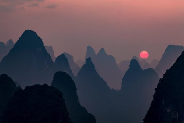 Sunset, The Night, Beautiful, Mountain, Twilight