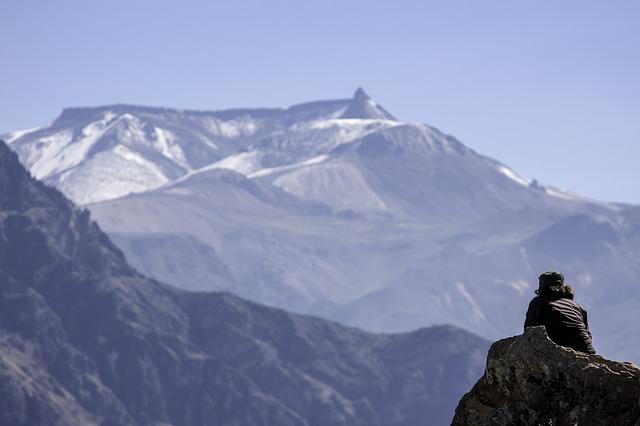 Mountain, Andes, Valley, Blue, Adventure, Landscape