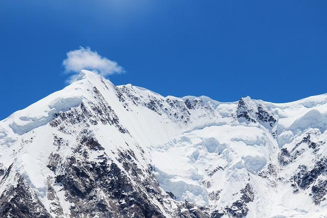 Snow Mountain, Blue Sky, Mountain, Plateau