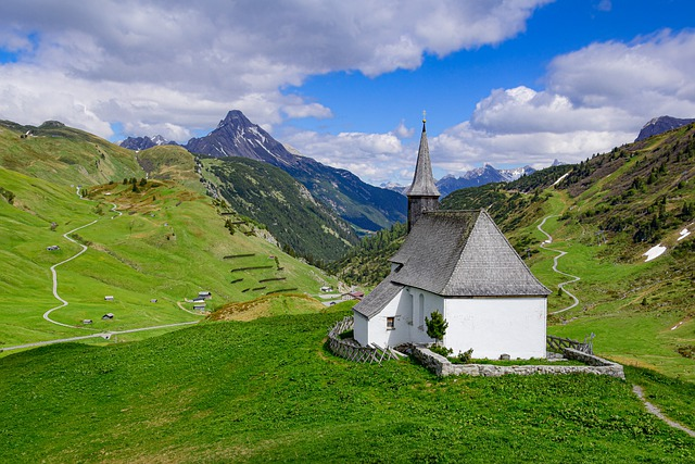 Chapel, Mountain Chapel, Mountain Church, Mountains