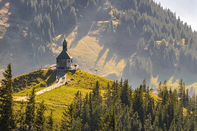 Landscape, Mountains, Mountain Chapel, Forest, Trees