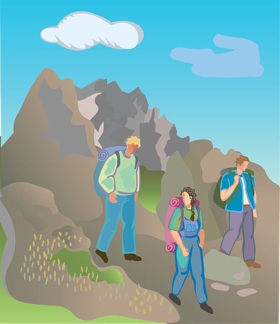 Mountain Climbing, Sports, Athletic, Hiking, Woman, Man