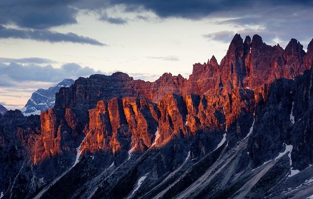 Dolomites, Italy, Summer, Mountain, Mountain Pass, Sky