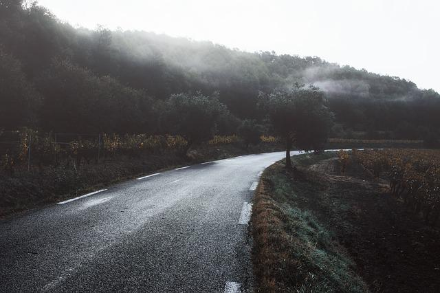 Road, Provence, France, Europe, Travel, Mountain