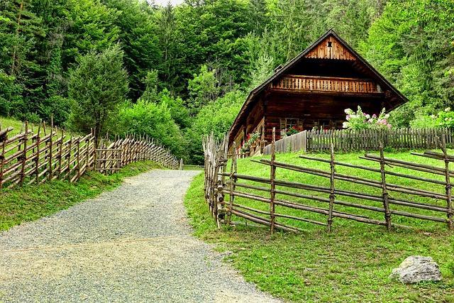 Wood, Fence, Wood Fence, Farmhouse, Mountain Farmhouse