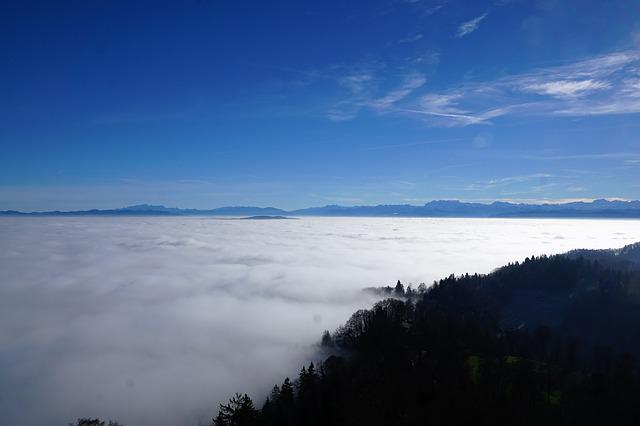 Uetliberg, Zurich, Switzerland, Mountain, Fog