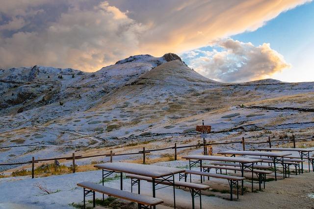 Dusk, Clouds, Landscape, Mountains, Mountain Hut