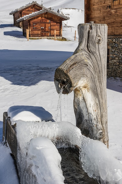 South Tyrol, Almen Village, Mountain Hut, Winter