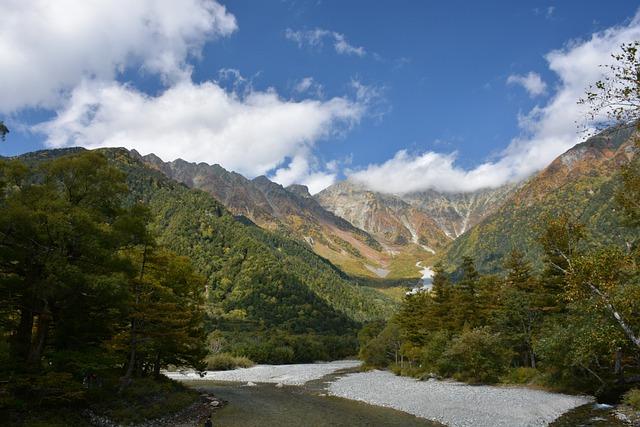 Mountain, Japan, Kamikochi, Nagano, Mother Nature
