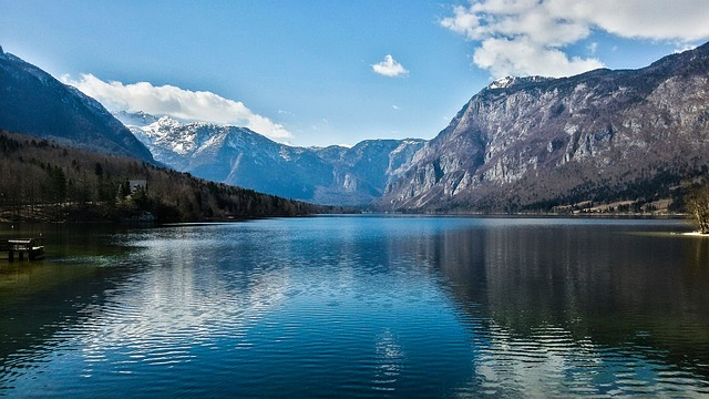 Lake, Natural, Sun, Mountain, Alps