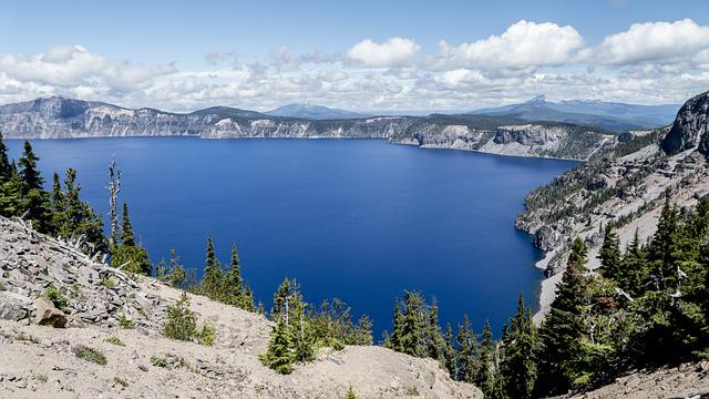Crater Lake, Mountains, Scenic, Mountain Lake, Travel