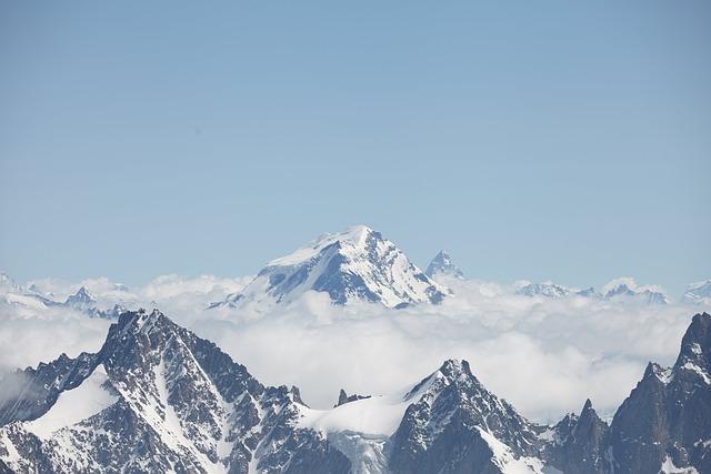 Chamonix, Clouds, Peak, Mountain, Landscape, Alps