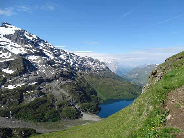 Mountain Landscape, Hiking, Alpine Walk, Mountains