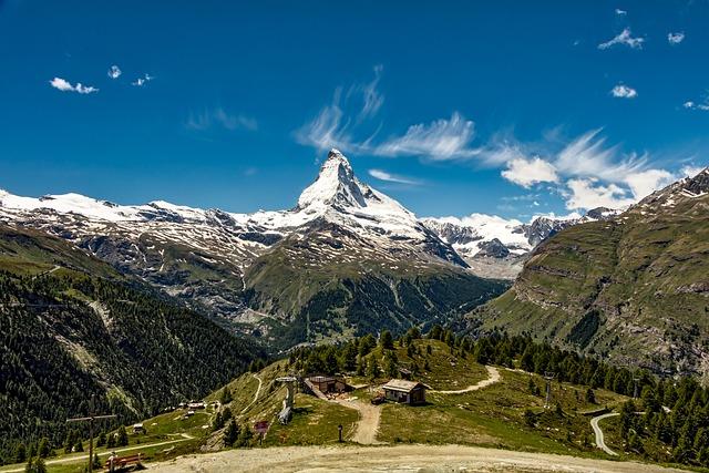 Switzerland, Matterhorn, Zermatt, Mountain, Landscape