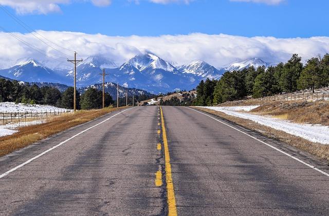 Road, Mountain, Colorado, Rockies, Mountains