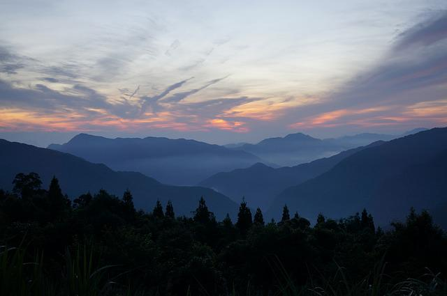 Natural, Landscape, Sunrise, Mountain, Twilight