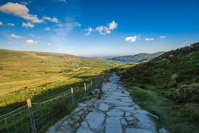 Walkway, Mountain, Panorama, Snowdon