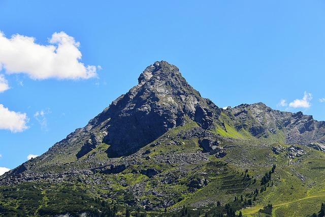 Mountain Peak, Mountains, Clouds, Sky, Tyrol, Landscape