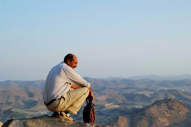 Mountain, Mekkah, Mecca, View, Nature, Arabic, Person