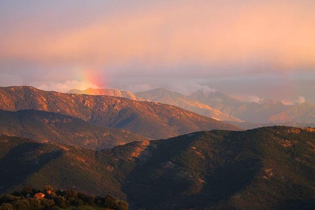 Rainbow, Mountain, Corsican