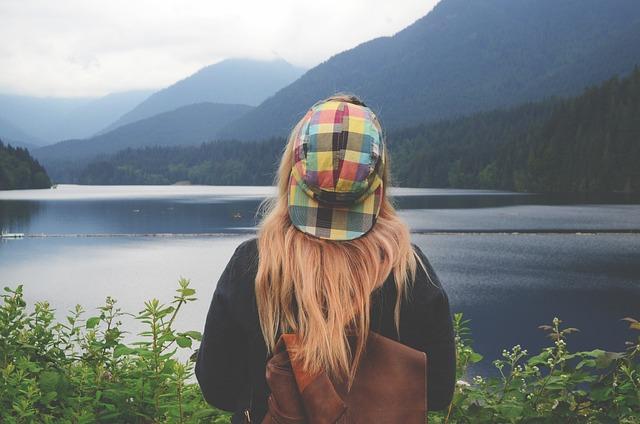 Lake, Mountain Range, Mountains, Nature, Person, Trees