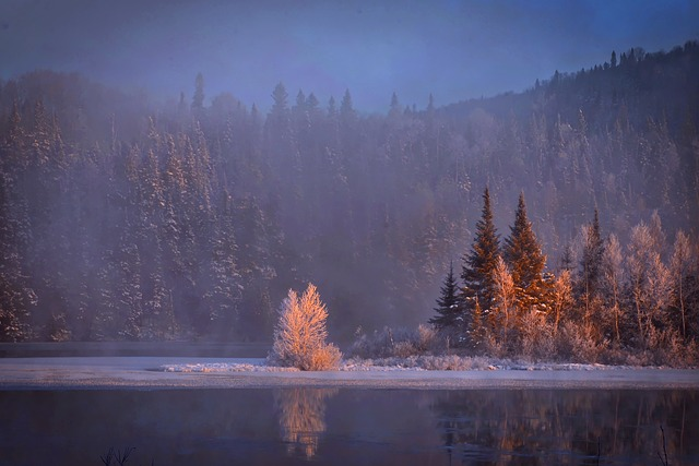 Winter Landscape, Snow, Mountain, Cold, Reflections