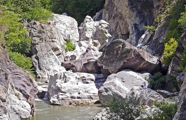 Gorge, Rock, Riverbed, La Roya, Mountain River